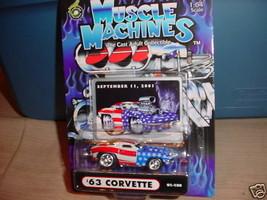 Muscle Machines 9-11-2001 Tribute '63 Corvette 01-100 Free Usa Shipping - $11.29