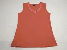 Womens women's Ann Taylor sleeveless XS v neck shrimp shirt top EUC pre-... - $13.60