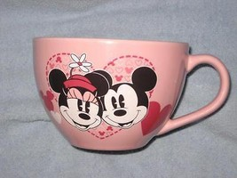 DISNEY STORE MICKEY AND MINNIE  COFFEE CUP / CEREAL/ SOUP CUP . Brand New. - $22.00
