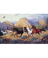 Free At Last by Terry Doughty Print  Horses  VCS - $44.55