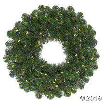 "Vickerman 24"" Oregon Fir Christmas Wreath with Warm White LED Lights - $59.00"