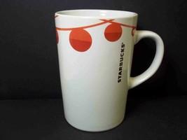 Starbucks coffee mug Red baubles garland Christmas 2012 10.8 oz - $9.51