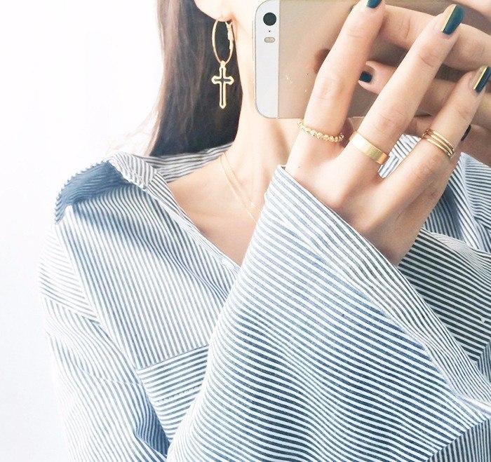 Black Cross Earrings For Women 2018 Classic Fashion Jewelry Big Earrings image 5