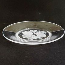 "1 (One) VAL ST LAMBERT BRUSSELS Intaglio Cut Crystal 7"" Salad Plate  D/C-Signed image 4"