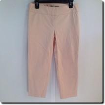 Ann Taylor LOFT Peach Cotton Blend Cropped Pants 4 - $18.78