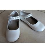 SHOES Girls JUMPING-JACKS White Leather MaryJane Dress Beaded Strap Sz 8M - $12.74