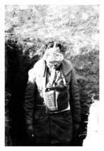 An American Soldier Wearing His Gas Mask - $19.97