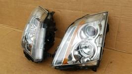 08-13 Cadillac CTS 4 door Sedan Halogen Headlight Lamp Set L&R image 2
