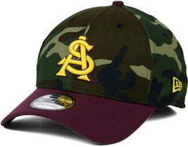 Arizona State Sun Devils League Classic Camo New Era Ncaa Stretch Fit Hat Cap - £19.27 GBP