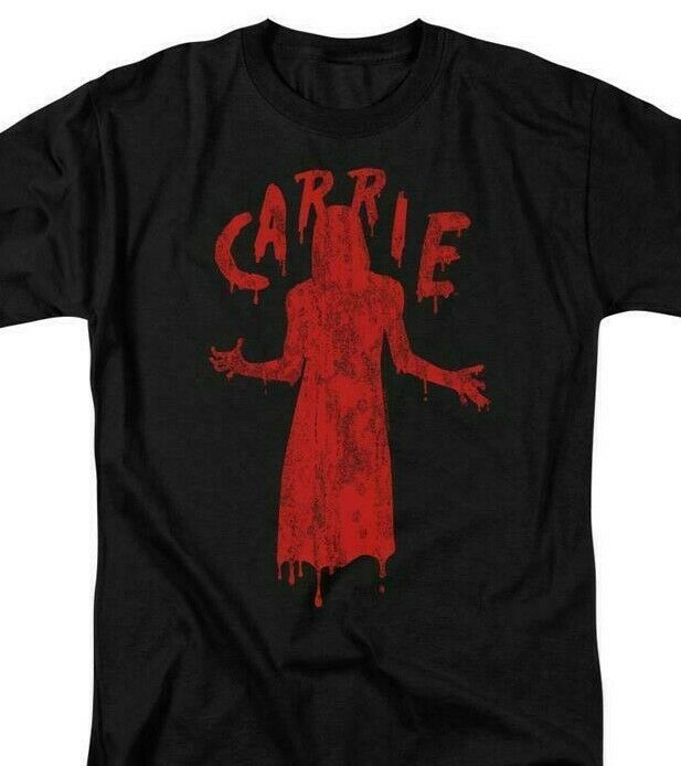 Carrie T-shirt Blood Silhouette 1970's horror movie retro graphic tee MGM318