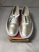 Vans Men's Shoes AUTHENTIC Foil Grey Gold True White Size Men 7 Women 8.5 - $40.10