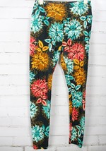 LULAROE Leggings Pink Floral Print OS One Size - Lot of 2 image 2