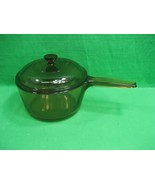 Vintage Vision Corning Ware 1.5L Sauce Pan with Lid ~ Amber ~ Made in USA - $27.07