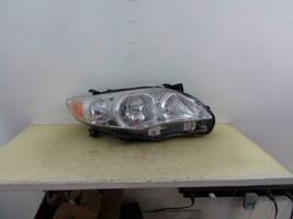 2011 2012 2013 Toyota Corolla Rh Passenger Halogen Headlight W/ Chrome Trim Oem - $92.15