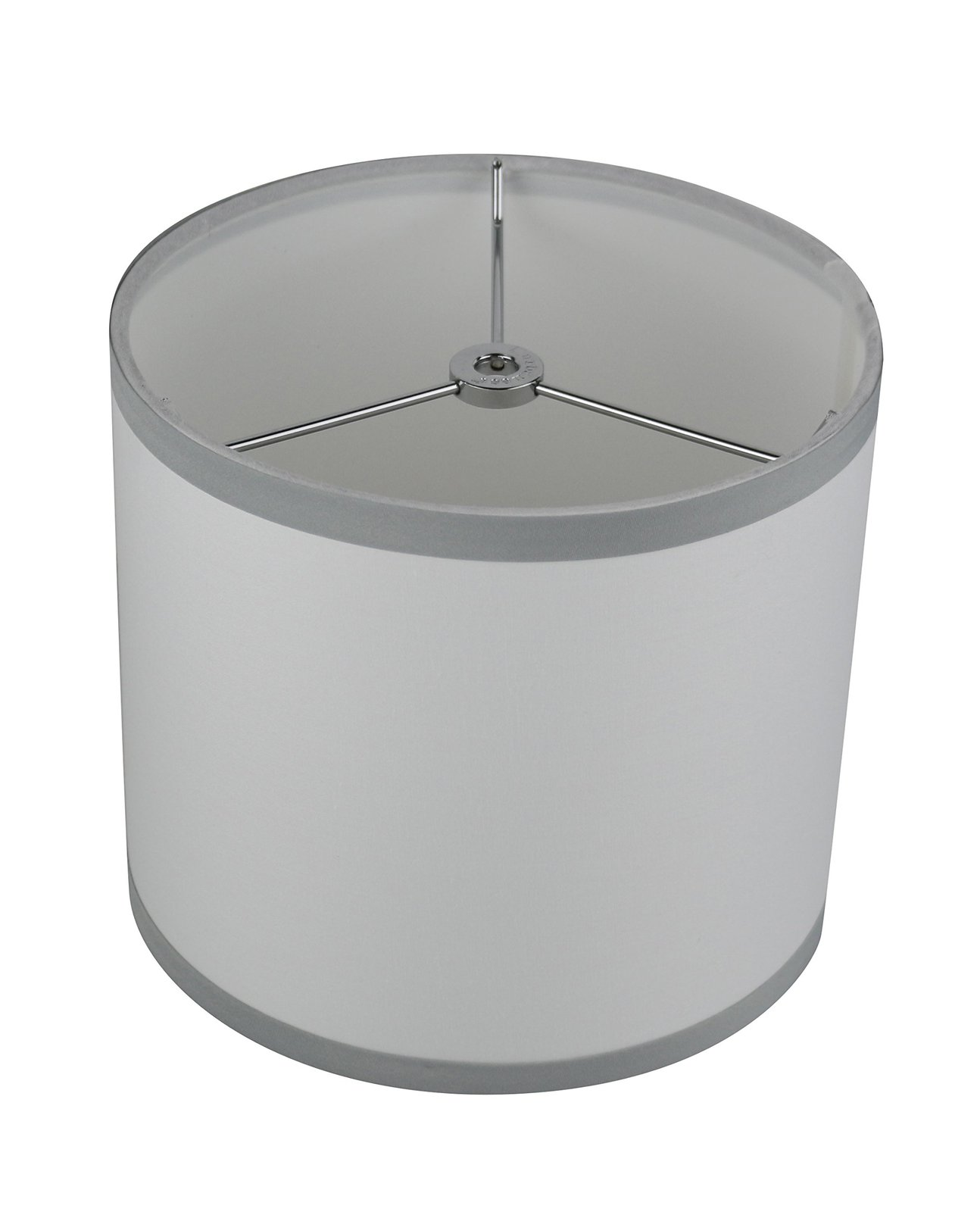Urbanest Cotton Classic Drum Lampshade, 8-inch by 8-inch by 7-inch, Off White wi image 2