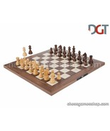 DGT Walnut Board NON-Electronic with Timeless Pieces - Tournament Chess Set - $242.99