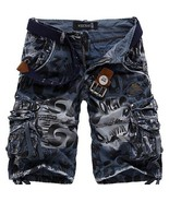 2018 Fashion Hot Sales Men camouflage pants overalls loose cargo shorts ... - $52.74