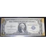 ERROR 1935E $1 Silver Certificate Note, One Dollar Misaligned - $35.99