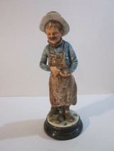 VINTAGE #245 23 PORCELAIN FIGURINE WESTERN SHOP KEEPER FILLING SMOKING PIPE - $9.99