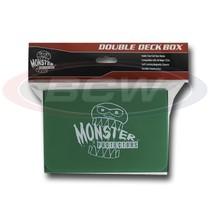 25x  MONSTER PROTECTORS DOUBLE DECK BOX - Matte Green - Magnetic Lock - $116.38
