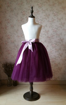 Plum Little Girl Tulle Skirt for Dress up and Fairy Costumes 1-16 image 6