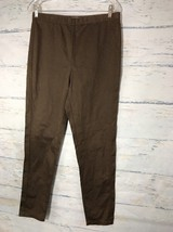 Sharon Young Pull On Stretchy Pants Brown Rayon/Nylon/Spandex Women's Si... - $11.30
