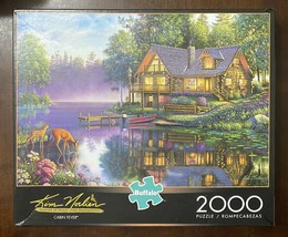 Buffalo 2000 Pc Puzzle Kim Norlien - CABIN FEVER - Deer Lake Complete w ... - $21.29