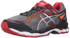 ASICS Men's Gel-Surveyor 5 Running Shoe, Black/Silver/Vermilion, 7.5 M US - $119.05