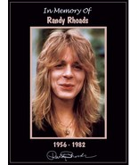Ozzy Osbourne Band Randy Rhoads Memorial Tribute Stand-Up Display - Guit... - $16.99