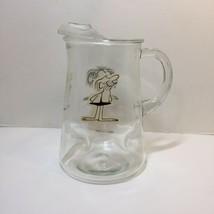 "Vintage Hart BC Caveman Comic Glass Pitcher Thor Grog 9"" Tall - $19.34"