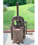 Antique Cast Iron National Specialty 1897 4qt Sausage Stuffer Fruit Press - $556.86