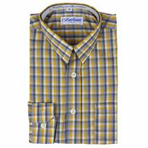 Berlioni Italy Boys Junior Kids Toddler Checkered Long Sleeve Dress Shirt image 2