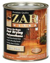 Zar Ultra 1QT Clear Gloss Oil Based Fast Polyurethane 32812 United Gilsonite Lab image 3