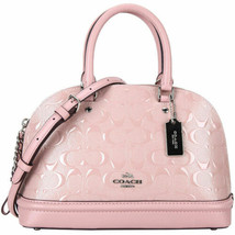 Coach Mini Sierra Crossbody Bag Blush 2 Pink Debossed Patent F27597 NWT ... - £112.63 GBP