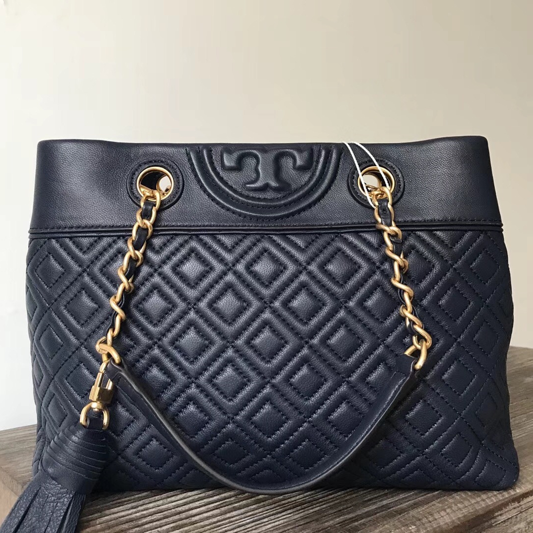 0c9bd802e8a Tory Burch Fleming Small Navy Tote and 50 similar items. Img 8343