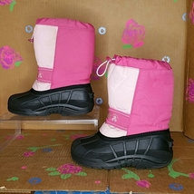 Kamik Girl's Pink / Black Winter Snow Boots Size 2 - $35.00