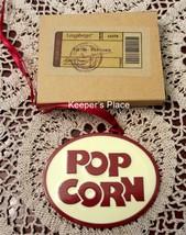 Longaberger Popcorn Basket Tie On Vintage Retro Style Painted Metal New ... - $13.00