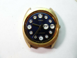 TIMEX BLUE TELEPHONE DIAL WATCH RUNS WHEN WOUND FOR CRYSTAL CASE RESTORA... - $130.62