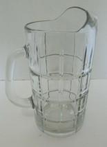 Anchor Hocking Glass Clear Crystal Tartan Plaid Pitcher Ice Lip Molded H... - $18.69