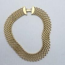 N API Er Vint. Mma Vermeil Gold Plate Large Choker Necklace PAT.4.774.743 - $49.99