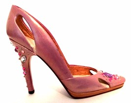 Raine Just The Right Shoe Bling 25583 Pink Rhinestones Miniature Retired... - $56.42