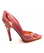 Raine Just The Right Shoe Bling 25583 Pink Rhinestones Miniature Retired... - $56.42