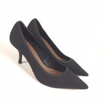 Donald J Pliner Size 8.5 Roza Pumps Black Fabric Pointed Toe Low Cut Shoes - $25.64