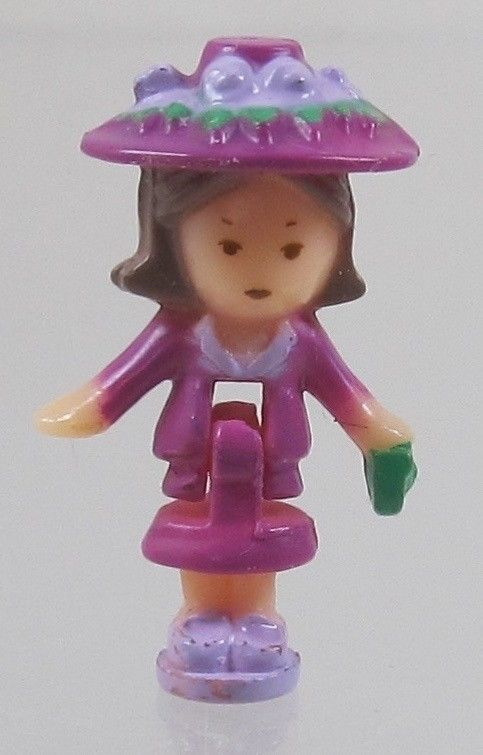 1990 Vintage Lot Polly Pocket Doll Fifi's Parisian Apartment - Fifi Bluebird