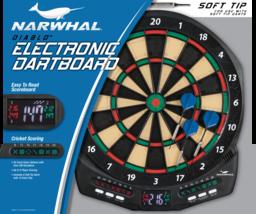 Electronic Dartboard Set With Cricket Scoring Built In Dart Storage Game... - $21.59
