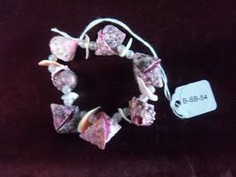 Handmade Pink Shell Bracelet (B-SB(Pkw/f)) - $6.00