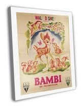 Bambi 1946 Vintage Movie FRAMED CANVAS Print  - $19.95+