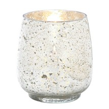 10 Hurricane Candle Holders Distressed Silver Finish Mercury Glass Large... - $146.47
