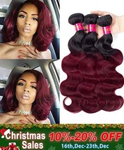 Black Rose Hair Body Wave Brazilian Ombre Human Virgin Remy Hair Bundles Extensi