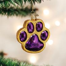 Paw Print Glass Ornament - $13.95